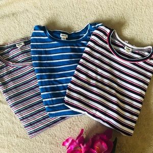 💕3/$20💕 Garage set of 3 long sleeves stripe tees